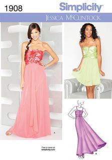 evening dress, ball dress, gown, cocktail dress, sewing patterns ...