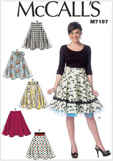 McCall/'s 7022 Easy Sewing Pattern to MAKE Skirts with Yokes /& Variations