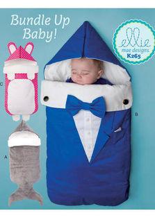Kwik Sew Baby Easy Sewing Pattern 4148 Fun Novelty Bibs KwikSew-4148
