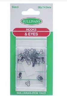 Hook & Eyes Size 0 Black