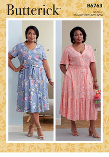 Simplicity Pattern 8163 Miss and Plus Amazing Fit Special Occasion Dress 10-28W