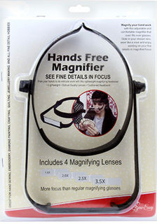 Magnifier ' Hands Free includes 4 lenses