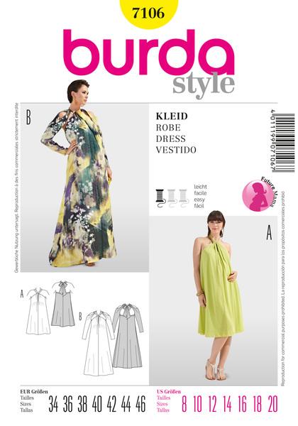 Выкройки платьев для беременных из журнала бурда 83