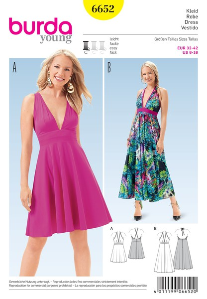 6db5fbd6a90ee7 B6652 - Sewing- Patterns- NZ - dresses, childrens, babies, toddlers,  simplicity, burda, new look, project runway