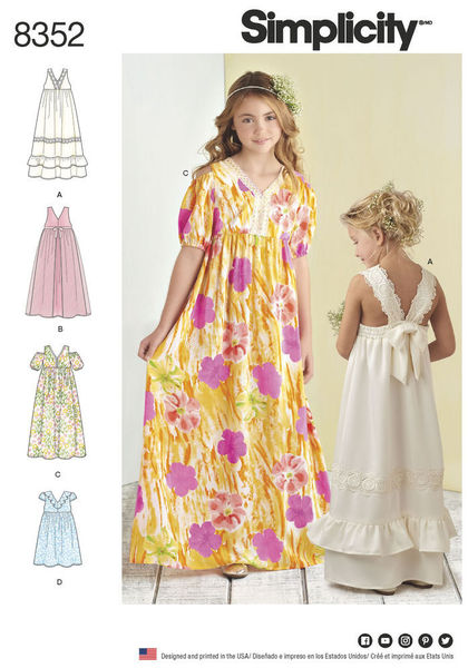 8352 - Sewing- Patterns- NZ - dresses, childrens, babies, toddlers ...