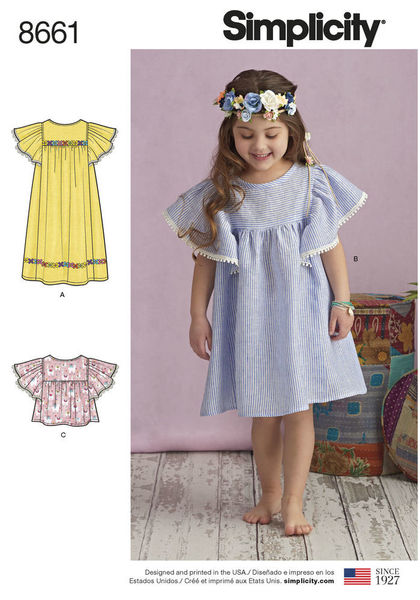8661 - Sewing- Patterns- NZ - dresses, childrens, babies, toddlers ...