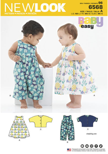 6568 - Sewing- Patterns- NZ - dresses, childrens, babies, toddlers ...