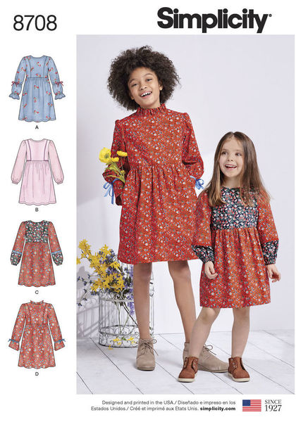 8708 - Sewing- Patterns- NZ - dresses, childrens, babies, toddlers ...